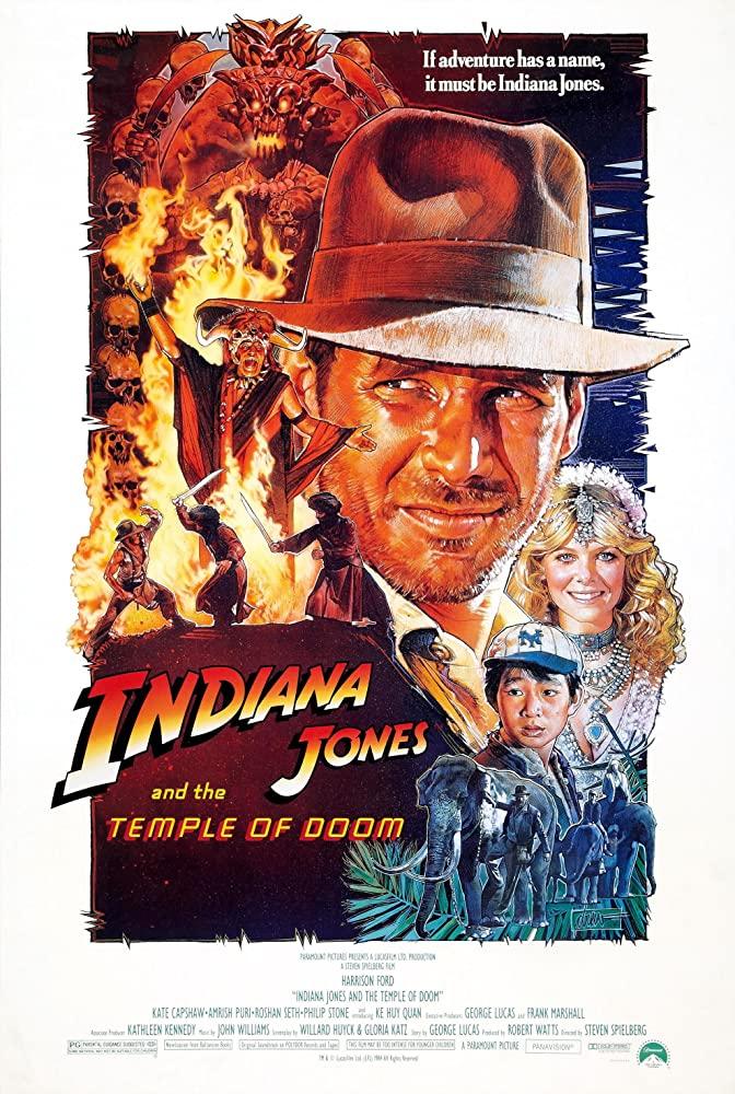indiana jones and the temple of doom macau poster