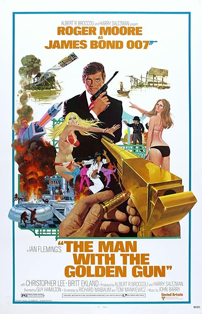 james bond and the golden gun poster