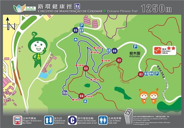 coloane fitness trail macau running routes