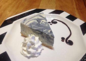 Peace of Cake lemon charcoal cheesecake