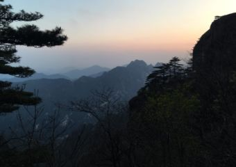 huangshan mountain sunset
