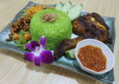 Loly Indonesian Food grilled chicken with pandan rice