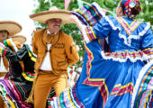 Mexican dancers, Cinco de Mayo Celebration, Old Mesilla, Las Cruces, New Mexico USA