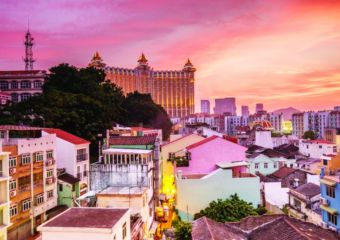 Taipa village macau view from aboce