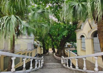 taipa village stairs ksenia kuzmina Macau good news 2020