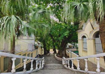 taipa village stairs ksenia kuzmina Macau good news 2020