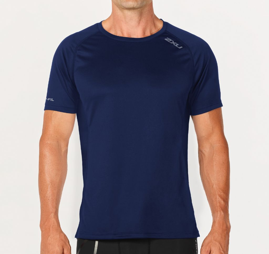 2XU Men's XVENT Short Sleeve Top_HK$399_MR5085a_NVY-NVY_01