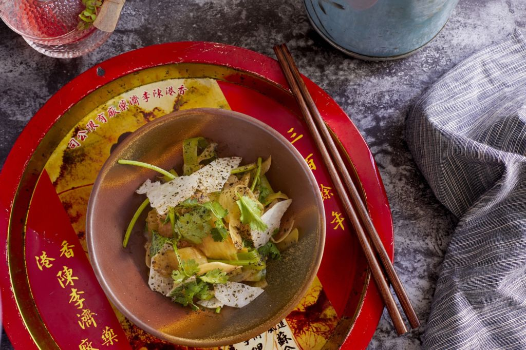 Madame Ching – Coriander and Green Radish Salad