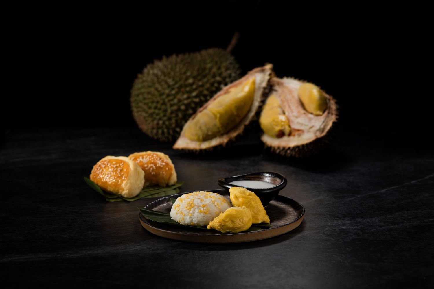 7th Malaysian Food Festival at Galaxy Macau Grilled Durian Sticky Rice Musang King Durian and Bird Nest Pastries