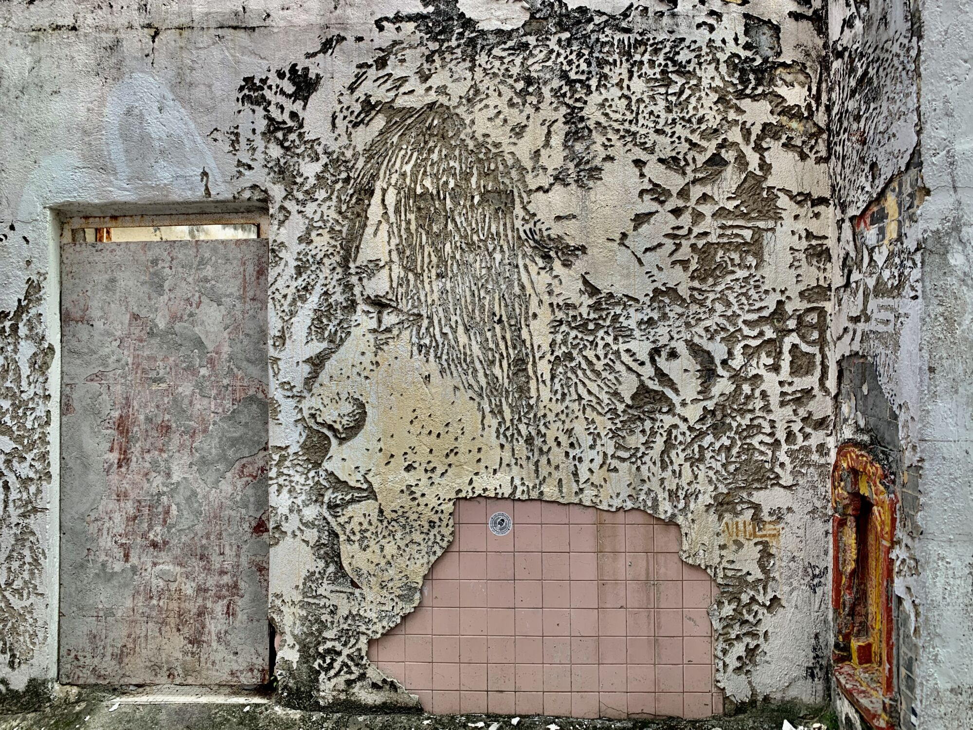 Vhils Wall Art Piece Rua dos Clerigos Taipa Village Macau Lifestyle