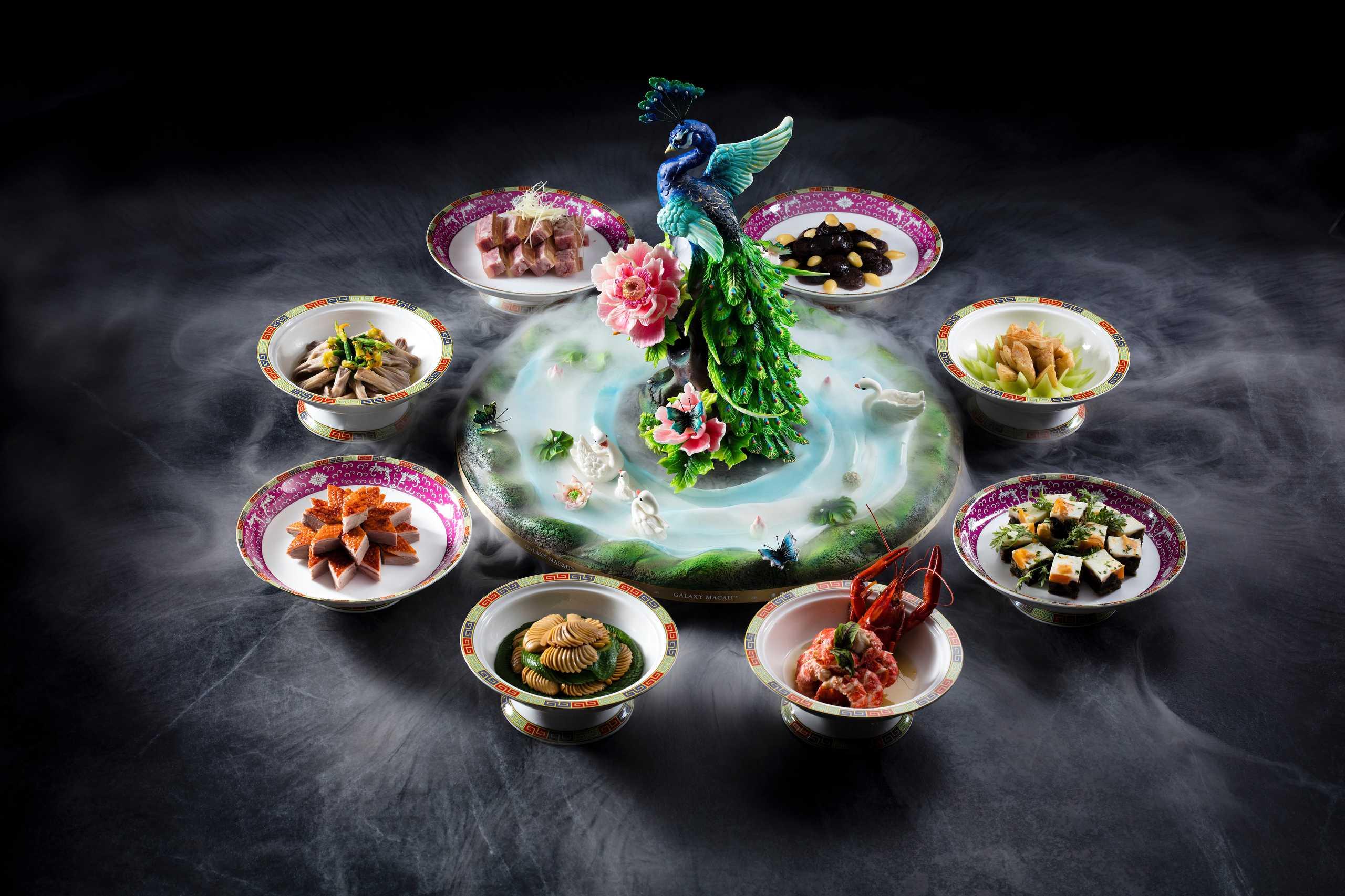 Huaiyang Cuisine Galaxy Macau Red Mansion Art Display