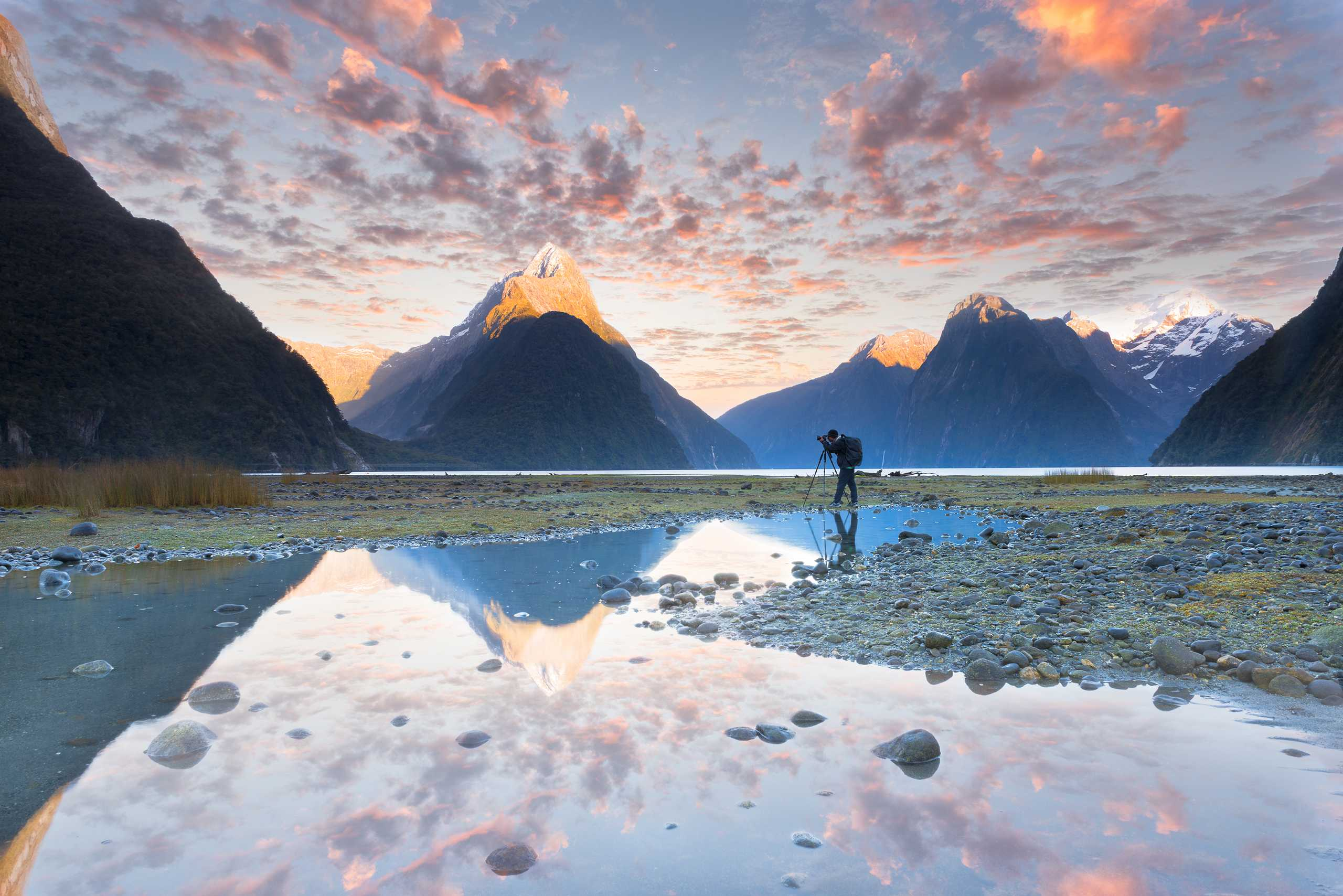 Landscape photography Milford sound New Zealand