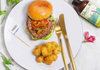 Impossible burger- flatlay, impossible foods Galaxy macau lifestyle