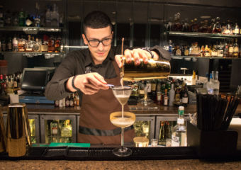 cocktail making bartender