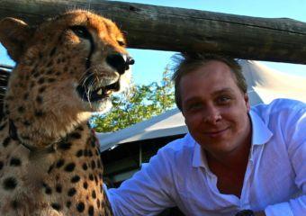 man and tiger safari