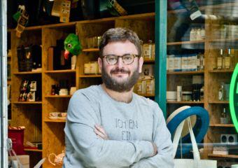 Portrait of shop owner