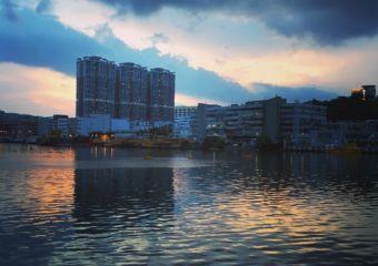 sunset in High in Fai Chi Kei district of Macau