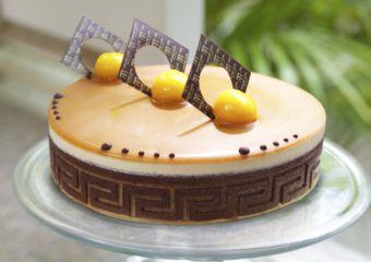 Grand Lapa Mango Caramel Mousse Cake