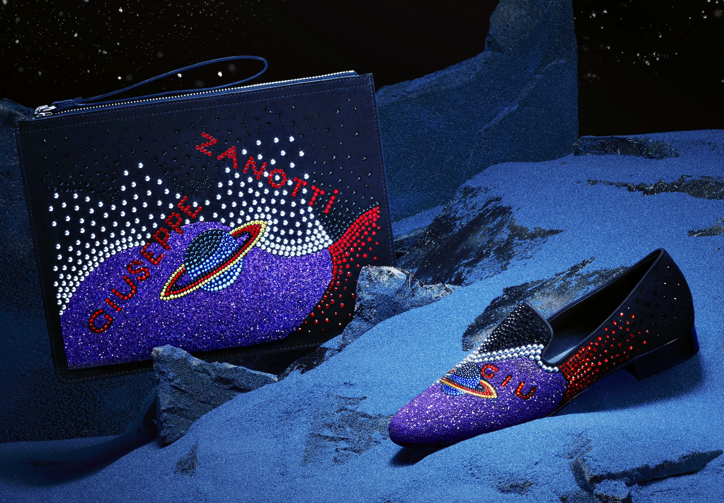 Giuseppe Zanotti Galaxy Collection_Uomo Clutch and Loafer