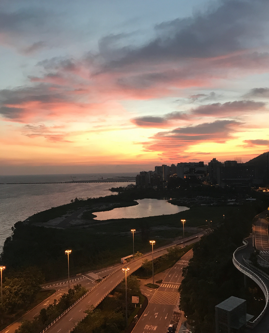 sunsets article ocean garden view by @redred_self