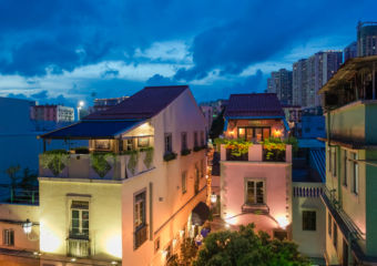 taipa village sunset top view