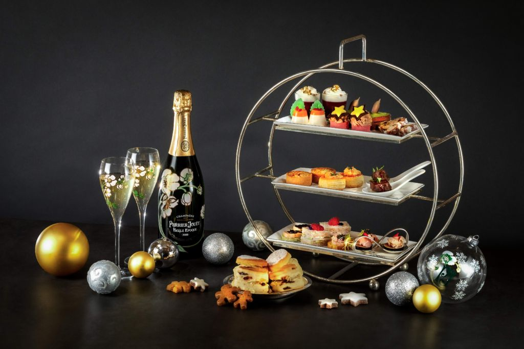 Festive Perrier-Jouët Champagne Afternoon Tea at Lobby Lounge Conrad Hong Kong