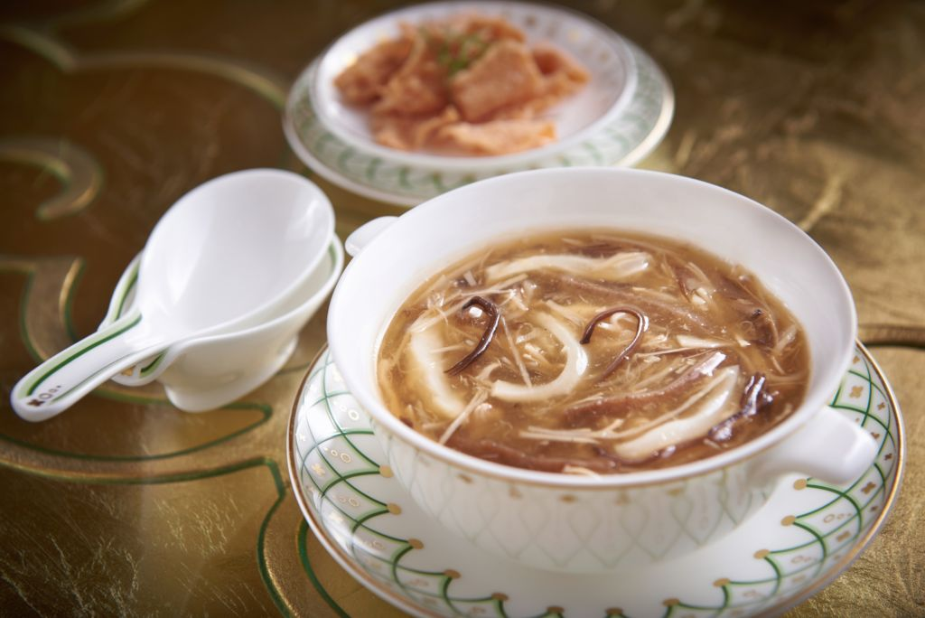 Wing Lei Palace - Braised Fish Maw, Sea Cucumber and Guinea Fowl Soup