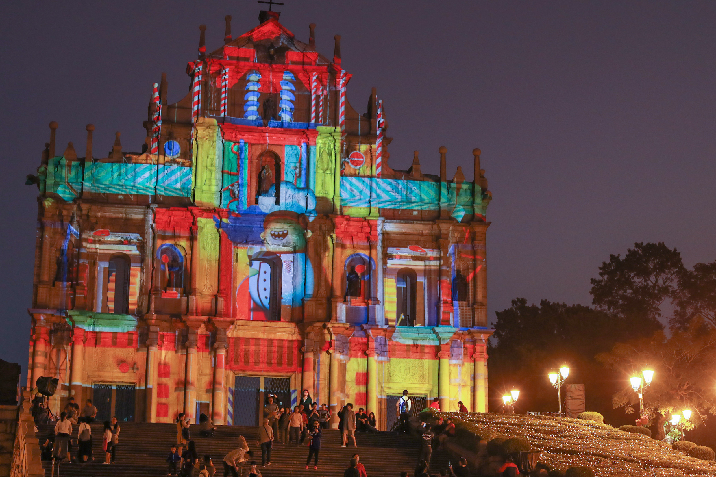ruins festival light macau 2018