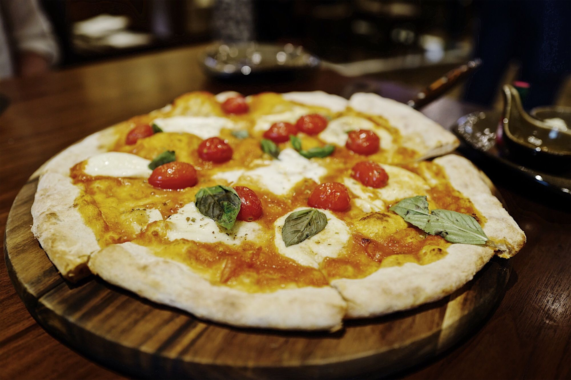 Coast MGM Cotai Charred Tomato Pizza with Buffalo Mozzarella and Basil Best Pizza Restaurants Macau Lifestyle