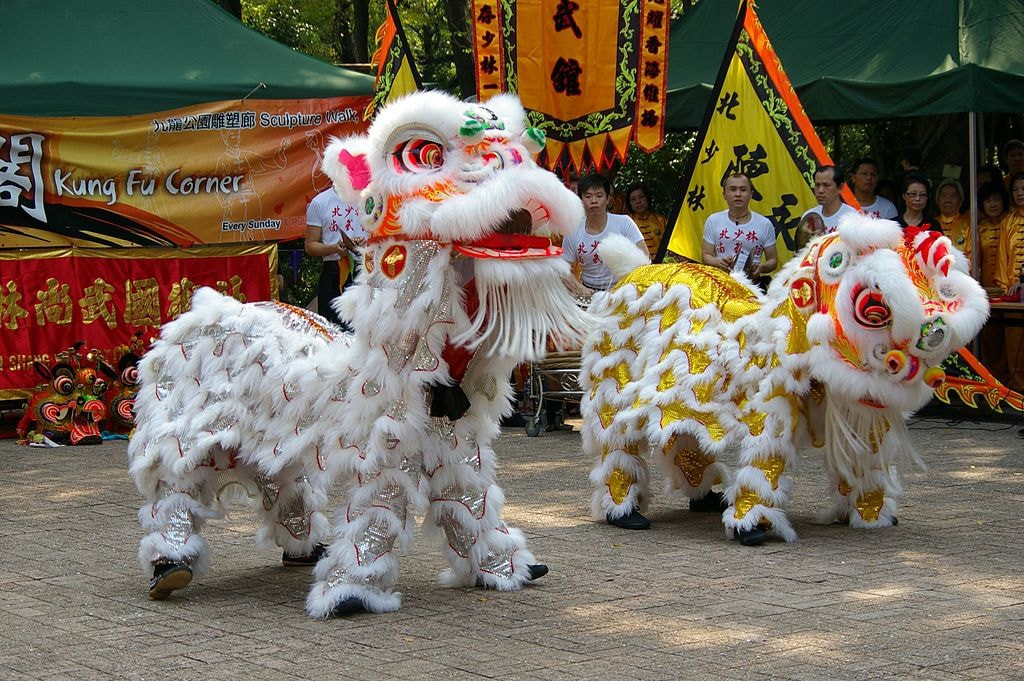 Lion and Dragon Dance Lunar New Year