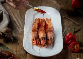 The Manor Sautéed Red Carabineros Prawns ? Garlic ? Paprika 1