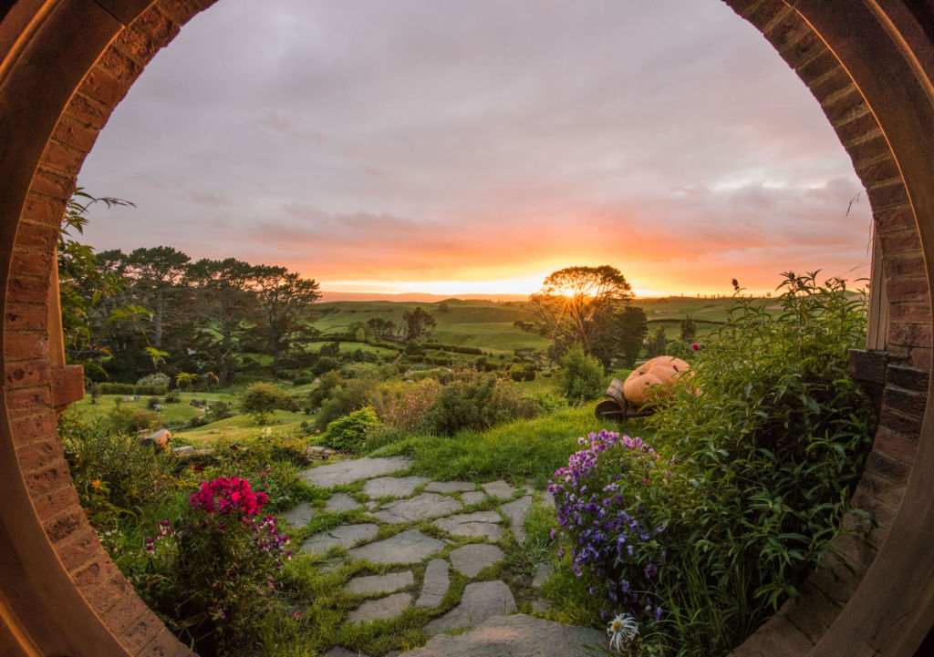 Tourism New Zealand hobbiton-view-from-hobbit-hole