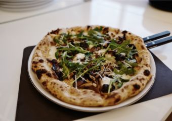 Wynn Palace Pronto Wild Mushroom pizza