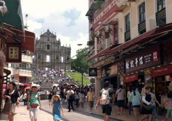 Street leading up to St Paul's Ruins Macau Lifestyle