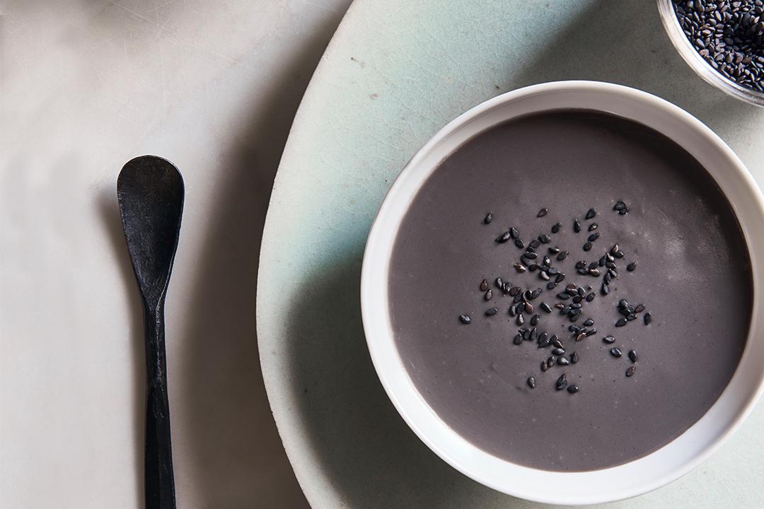 traditional macau snacks black sesame soup