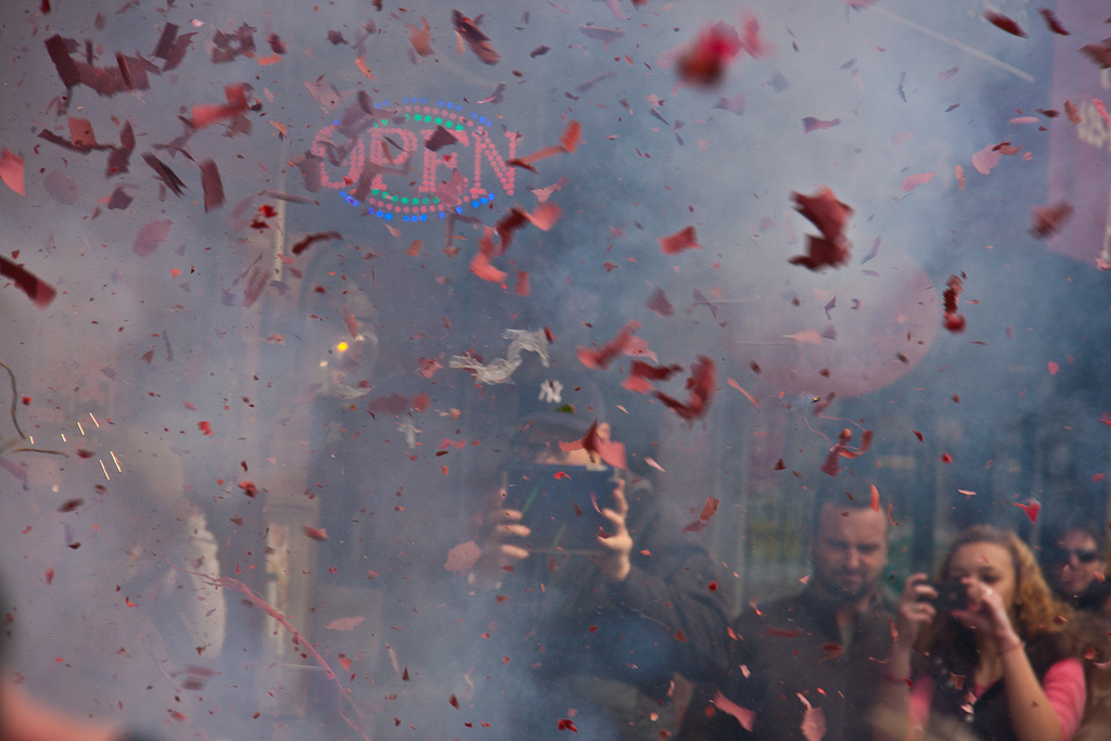 Chinese New Year traditions firecrackers exploding