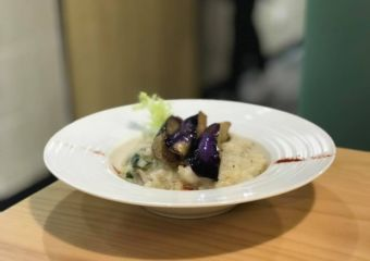 vega vega eggplant risotto