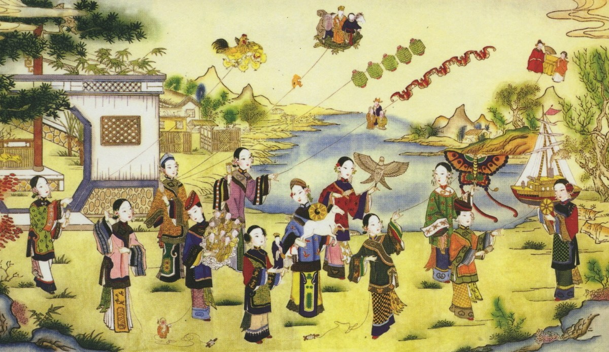 Kites flying Qingming Festival