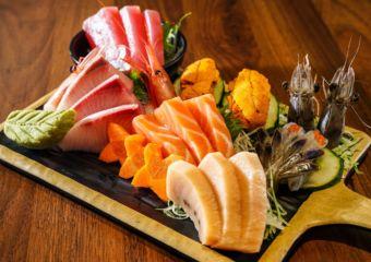 Kumano Tomahawk food sashimi