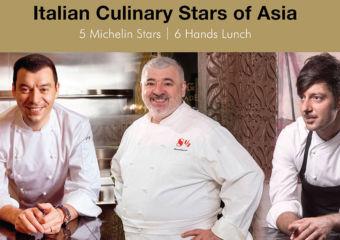 six-hand luncheon Chef Luca Fantin, Chef Umberto Bombana, Chef Antimo Maria Merone