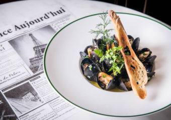 Le French GourMay Sautéed black mussel in white wine, butter and parsley