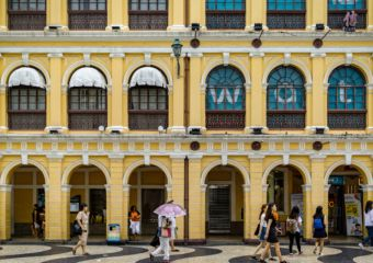 free things to do in Macau Yellow Building Senado Square