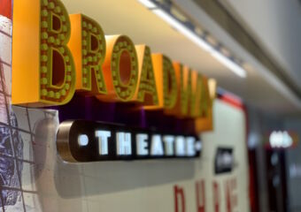 Broadway Theatre Sign Blurred Macau Lifestyle