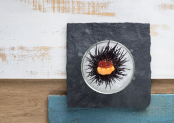 Hokkaido sea urchin, ocean trout roe with cauliflower