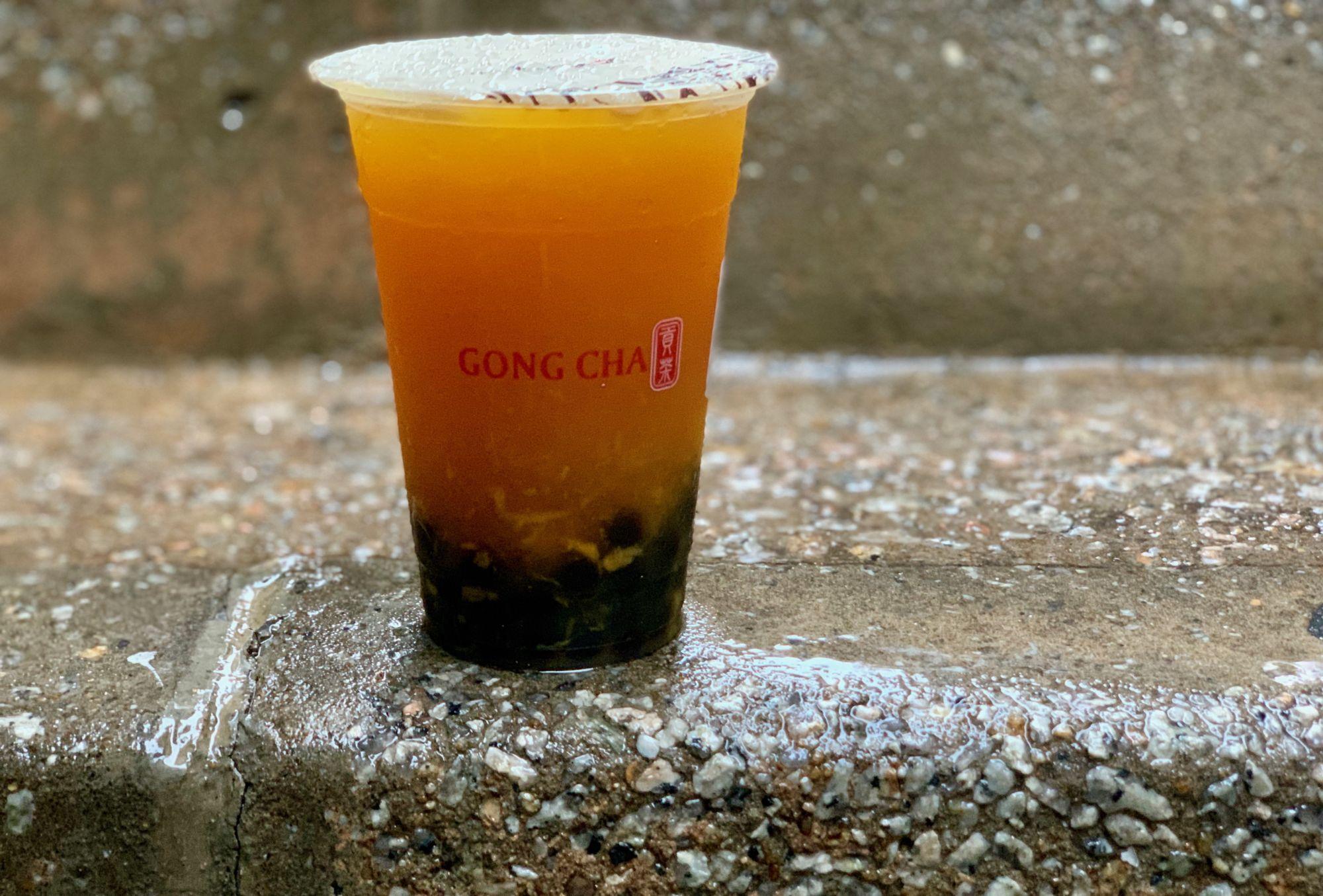 gong cha bubble tea passion fruit