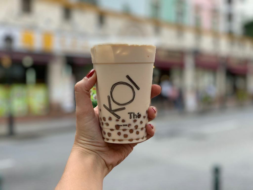 Koi Bubble Milk Tea in Hand Macau Lifestyle