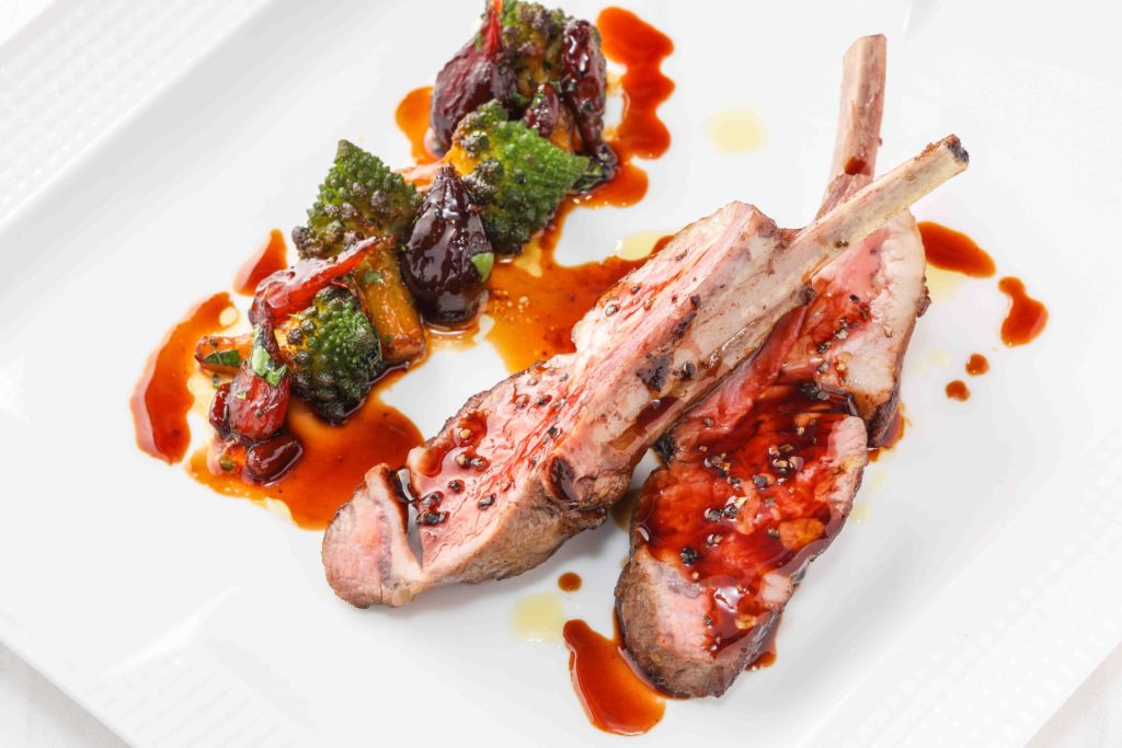 hong kong hot tables june Locanda Roasted Australian Lamb Rack, duo of Romanesco and Pearl Onion Caramelized