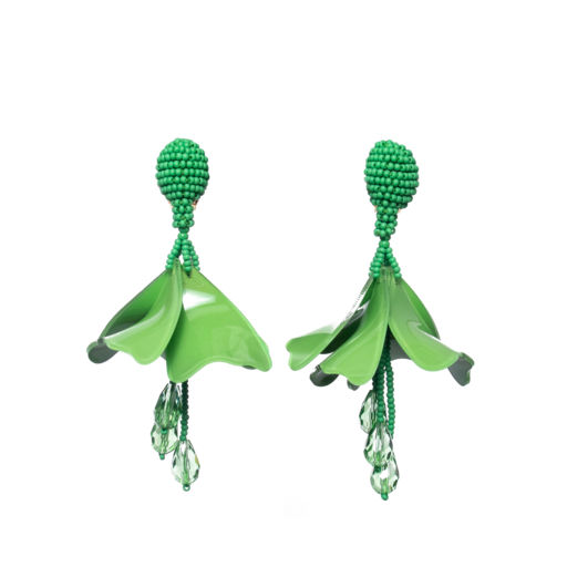 OSCAR DE LA RENTA green impatient earrings $3900 at Harvey Nichols