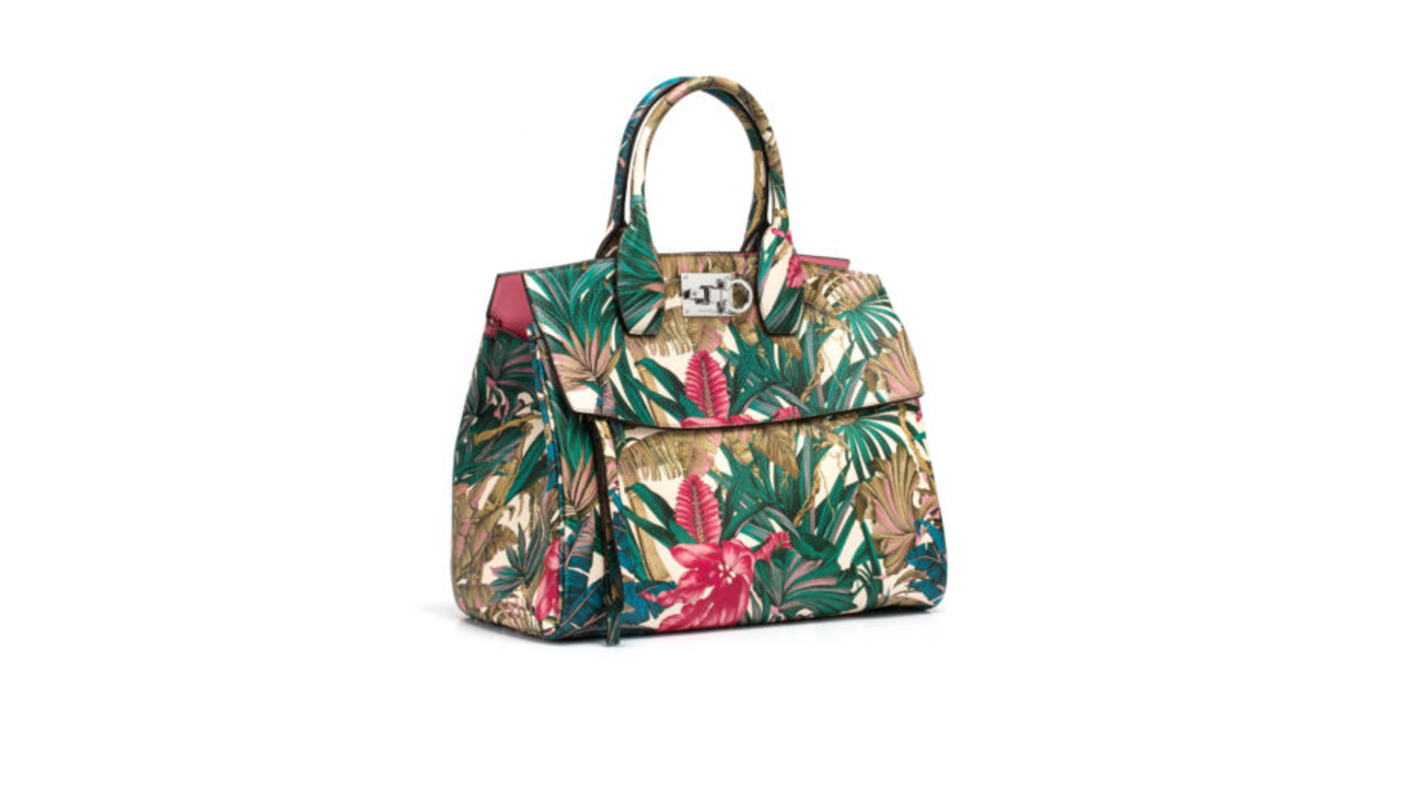 Salvatorre Ferragamo floral print bag spring floral fashion