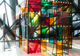 art macao Exploded hut, by Daniel Buren